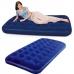 Кровать Ортопед. флок Синий  99x188x22см