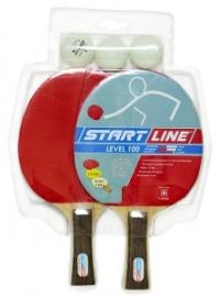 Набор для н/т Start Line (2 р-ки Level 100, 3 мяча Club Select)